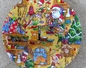 Decorative Decoupage Plate Santa