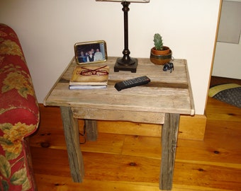 """Driftwood End Table (25"""" X 20"""" X 21""""H)"""
