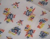 Royal Coat of Arms and Crests Light weight Vintage Fabric Panel - 1 yard - One of a Kind - FREE US and Canada SHIPPING