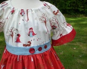 Little Red Riding Hood peasant dress
