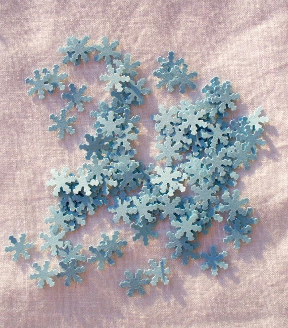 Paper snowflakes, Small, Die Cut, Light Blue, 100
