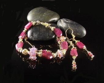 Ruby Gemstone Bracelet (Wisteria) by Gonet Jewelry Design