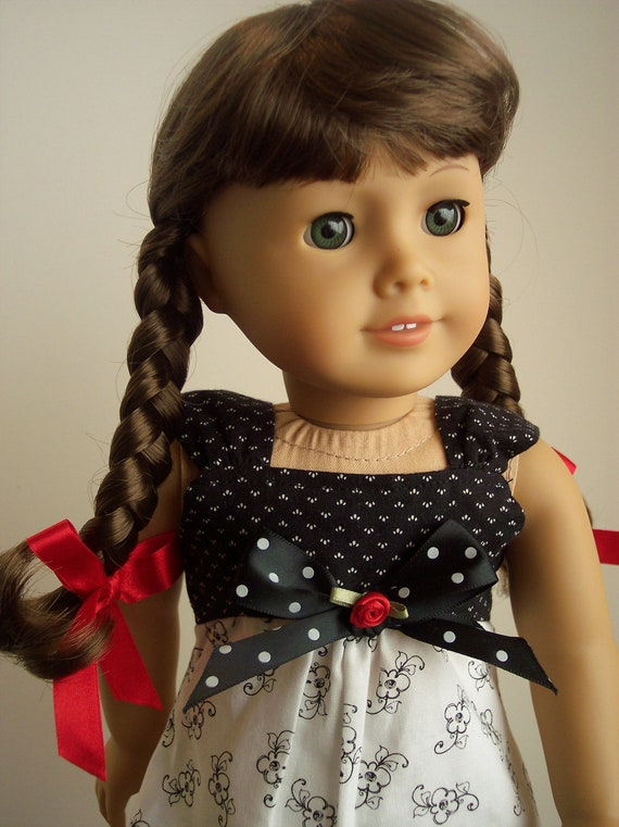 American Girl Doll Disney Hairstyles : Items similar to black and white summer dress on etsy