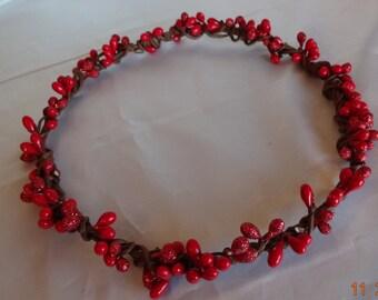 Bridal Hair Wedding Hair Red Berry Crown Princess Hair Wreath