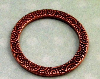Spiral Ring, Antique Copper, 25MM TierraCast Pewter TC20