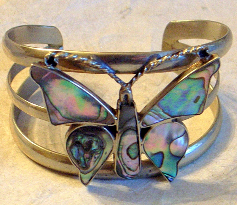 Warriors Orochi 4 Review Jim Sterling: RESERVED Butterfly Cuff Bracelet Wide Silver And Abalone