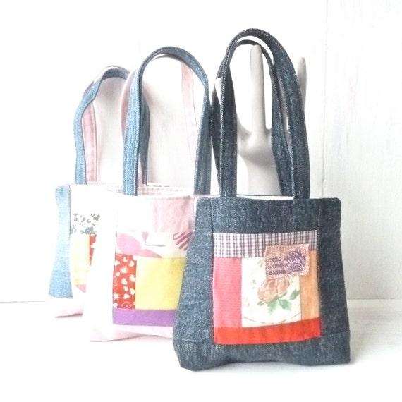 Toddler Girls Handbag - Denim Toddler Purse - Baby Girl First Birthday Gift - Toddler GIft Ideas - Children's Kids Toy - Vegan Recycle