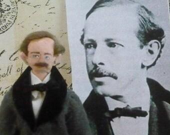 Horatio Alger Author Doll Miniature Art