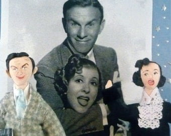 George Burns and Gracie Allen Doll Miniature Art Collectibles Set