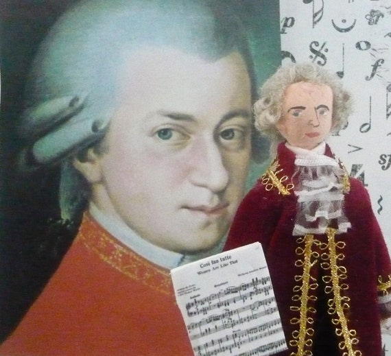 Miniature Doll Wolfgang Mozart Historical Musician Art Doll