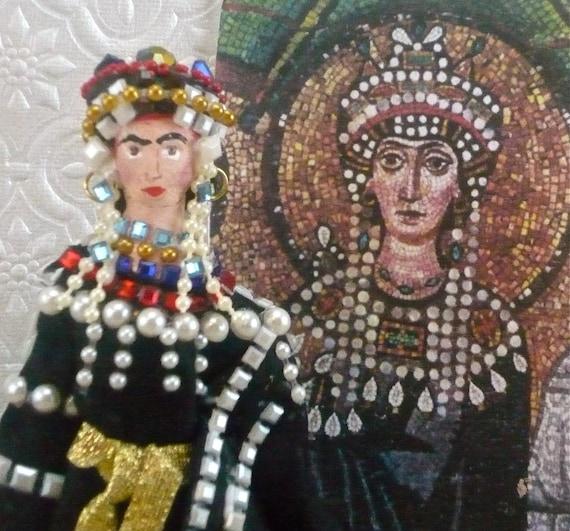 Empress Theodora of the Roman Empire Historical Doll Collectible Miniature