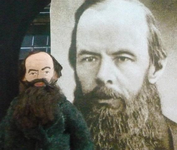 Fyodor Dostoyevsky Miniature Doll Russian Author