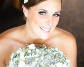 Deposit for classic heirloom pearl brooch bouquet -- made-to-order bridal wedding bouquet