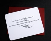 Winter Snuggle Letterpress Card - Buddy the Elf quote - CUSTOM 20