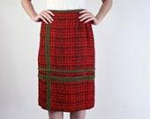 1960s Skirt - Tweed Skirt