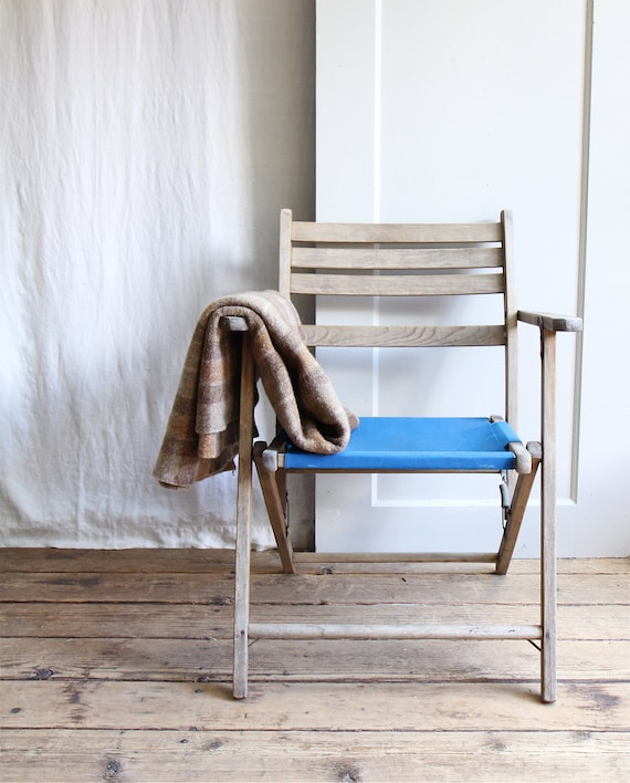 Vintage Canvas Folding Deck Chair