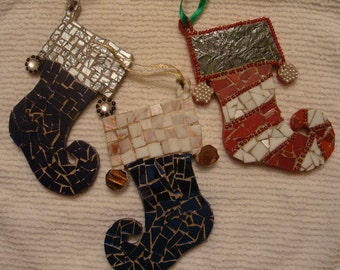Stained Glass Mosaic Christmas Stockings/Gifts under 20 Dollars
