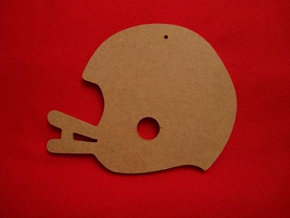 Unfinished Mdf Wood Football Helmet Ornament