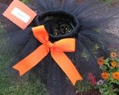 Orange and Black Tutu Skirt