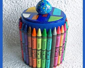 Crayon Organizer  Blue