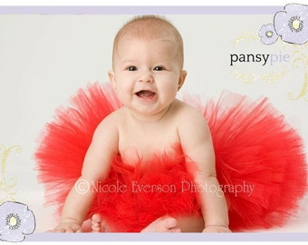 Newborn Red Tutu Skirt Newborn Christmas Tutu Infant Girl Tutu Dresses 3 6 month