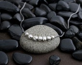 7 pebbles sterling necklace