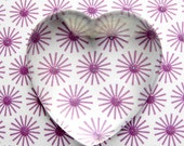 Clear Glass Domed Hearts - Set of 5 Rounded Cabochons - 35mm x 35mm - Crystal Clear **No Chips, Cracks, or Scratches**
