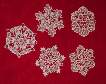 Lace Snowflake Ornament Set