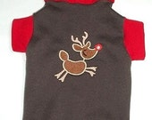 Pet Clothing SALE Sphynx Chinese Crested Clearance  Christmas Ready to Ship  Rudolph Turtleneck Pet Clothing  Sweat Shirt