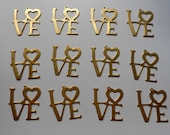 Twelve Lovely Vintage Brass Large Love Pendants