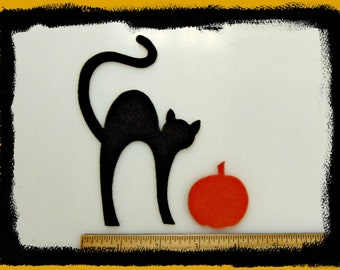 """Cats CATS cats ... 5"""" or 7"""" tall  cats for your projects - craft felt your color choice"""