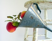 Vintage Enamelware Graniteware Funnel / Farmhouse Kitchen Storage Organization / ChristmasHome Decor