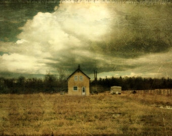 landscape photography abandoned house gold fine art photography Limited Edition 11/100