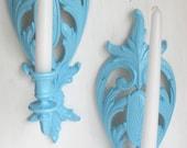 Aqua Turquoise Pair of Vi...