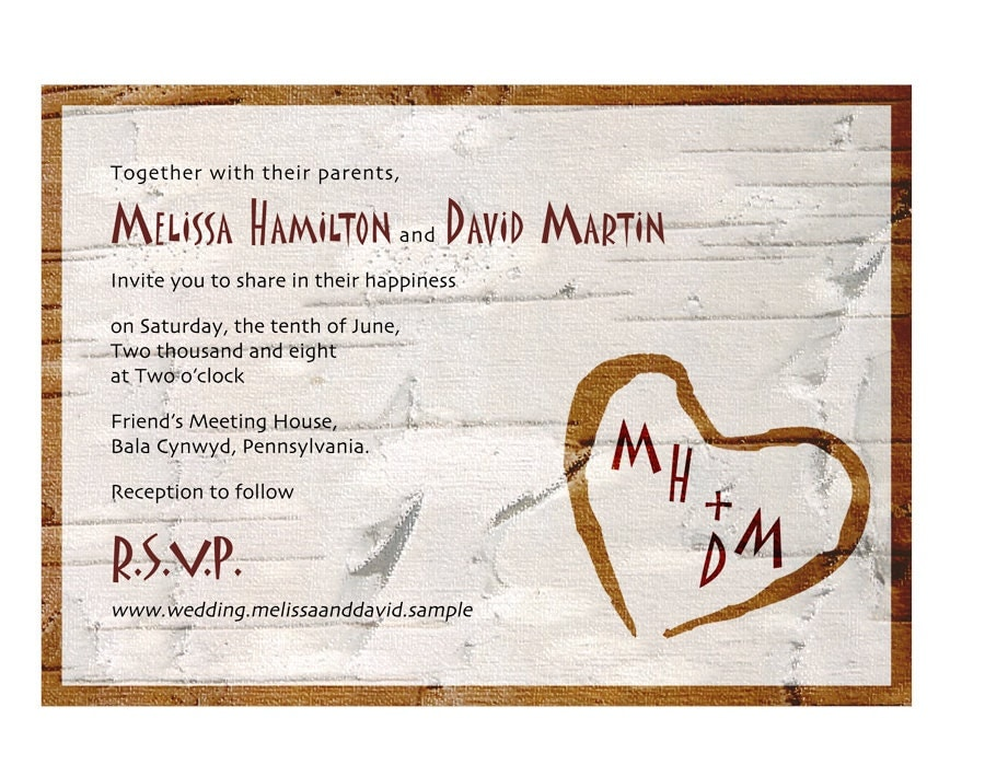 Fabric Wedding Invitations: Rustic Linen Fabric Wedding Invitation With By