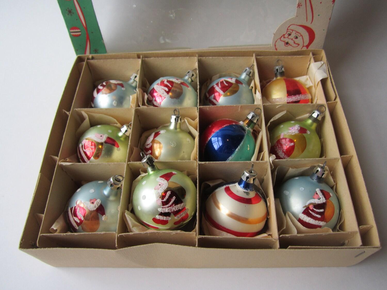 Vintage Poland Christmas Ornaments One Dozen by jenscloset