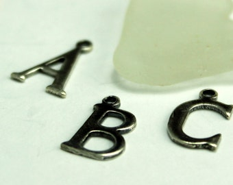 Initial Charm in Sterling Silver