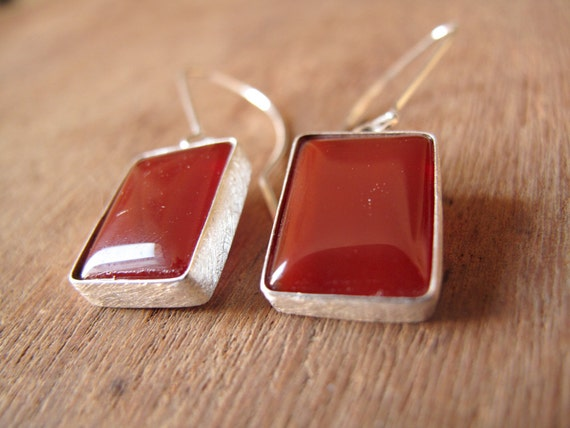 20% SALE - AGATE // Sterling silver earrings with natural Agate