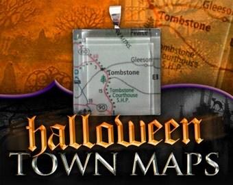 Tombstone, Arizona Map Pendant