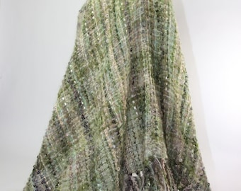 Handwoven Hand Dyed Shawl, Cape Poncho, I call it a Ponchshawl