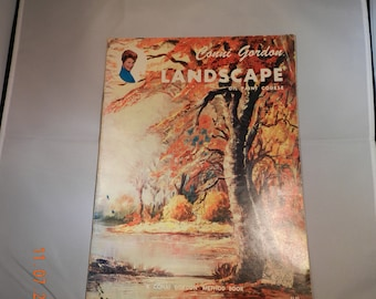 Vintage Art Book on How to Paint Landscapes in Oil by Conni Gordon
