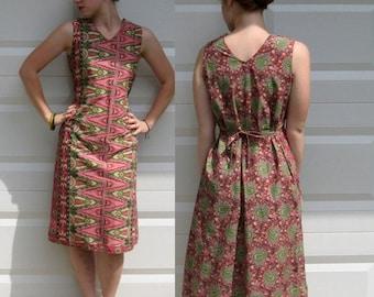 Ethnic Print Dress .  Reversible Dress .  Cotton print Dress . 2 in 1 dress . paisley dress