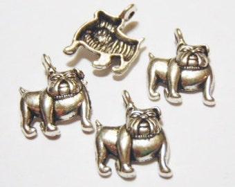 10 Bulldog, Dog Charms  18x13mm Item:D2