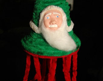 Santa Claus Chenille Bell Christmas ornament