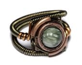 Steampunk Jewelry on Warehouse 13 - Ring - Seraphinite- Seen on TV