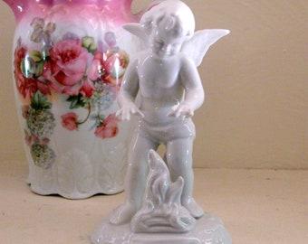 Dresden Winter Season Angel Figure