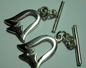 Sterling Silver Tulip Toggle Clasp