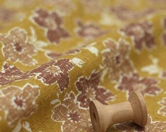 3064 - Japanese Cherry Blossom Slubbed Cotton Fabric - 43 Inch (Width) x 1/2 Yard (Length)