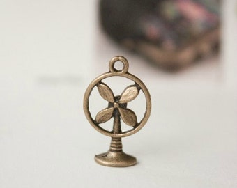 10pcs 11x17mm antique bronze electric fan charms pendants (J302)