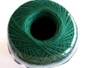 Aunt Lydias Classic Crochet Cotton Thread, FOREST GREEN, size 10, dark green